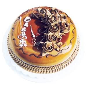 生日�r花蛋糕-巧克力口味