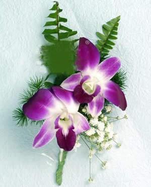 订花-石斛兰胸花
