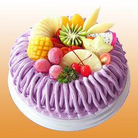 生日鲜花蛋糕-多彩水果蛋糕