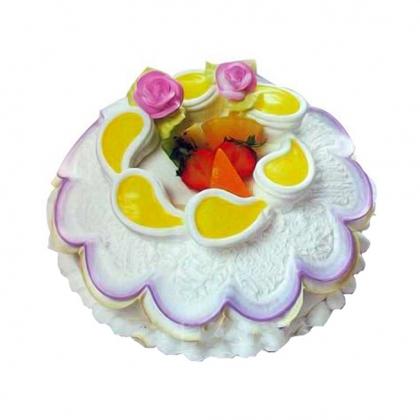 生日鲜花蛋糕-漫步云端