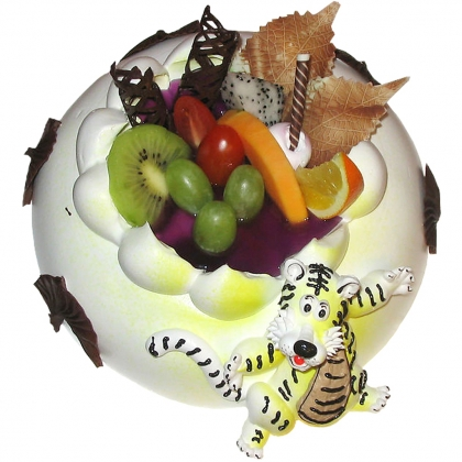 蛋糕鲜花-跳跳虎
