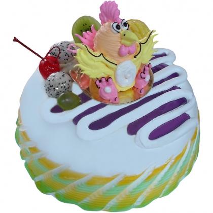 生日鲜花蛋糕-小鸡淘淘