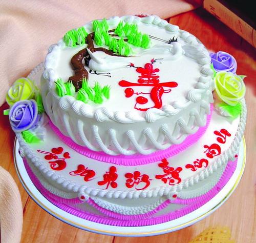 巧克力蛋糕-寿比南山
