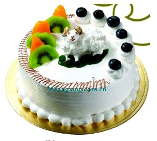 鲜花蛋糕-善良的羊