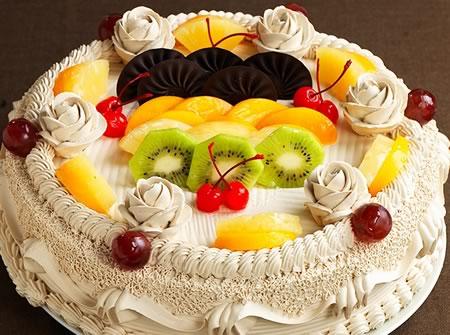 鲜花蛋糕套餐-克莉斯汀 水果风暴