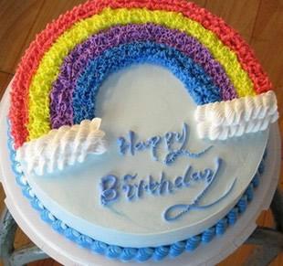 送蛋糕-生日彩虹