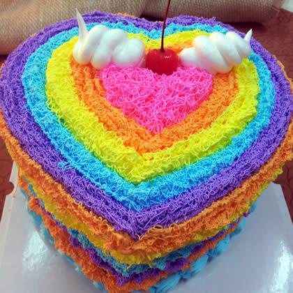 �r花蛋糕套餐-心形彩虹