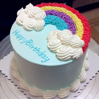 生日鲜花蛋糕-缤纷彩虹
