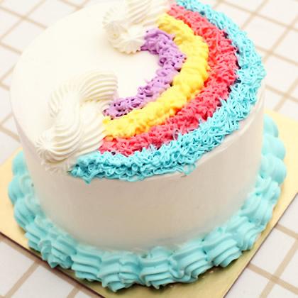 鲜奶蛋糕dangao-淡雅彩虹