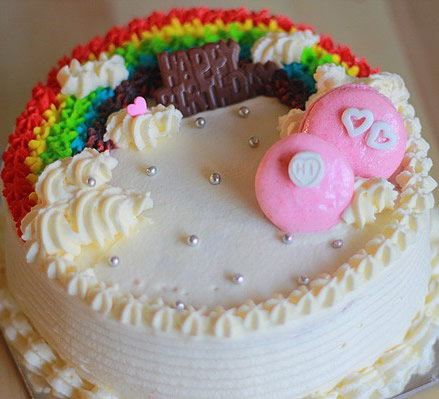 水果蛋糕-奶油彩虹