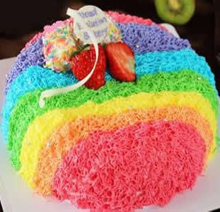 买蛋糕-水果彩虹