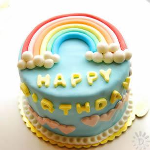 鲜花蛋糕套餐-魅力彩虹