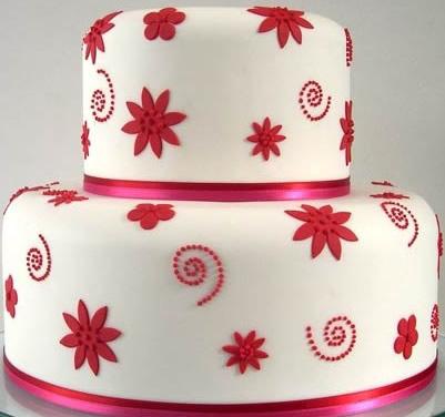 买蛋糕-翻糖蛋糕 红叶