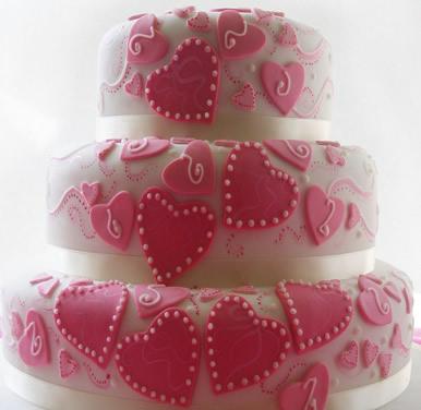 送蛋糕-翻糖蛋糕 红线