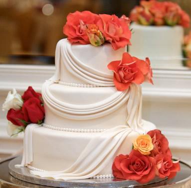 水果蛋糕-翻糖蛋糕 玫瑰