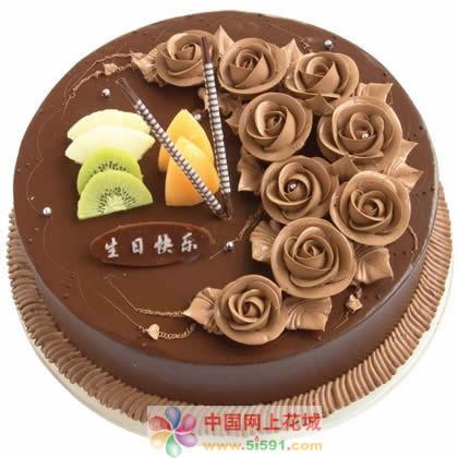 生日鲜花蛋糕-巧克力情缘