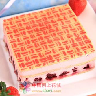 鲜奶蛋糕dangao-草莓慕斯