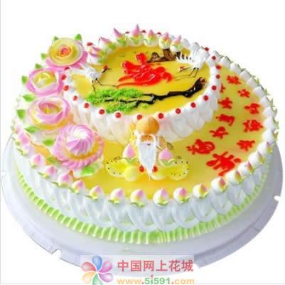 蛋糕鲜花-福如东海