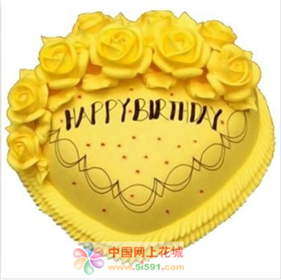 巧克力蛋糕-黄色玫瑰情