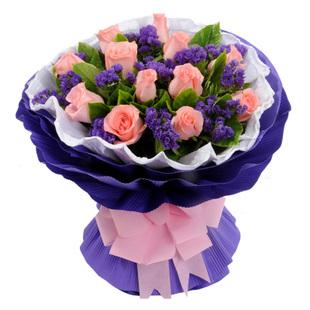 订花服务-粉玫瑰-就是爱你
