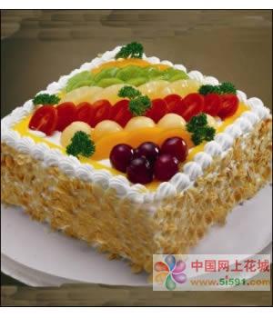 鲜花蛋糕-经典布朗斯