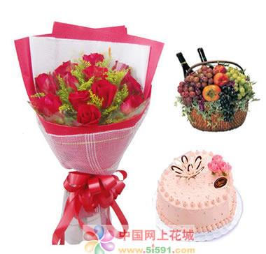 鲜花礼品店-吻上你的心