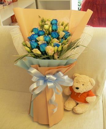 鲜花速递网-蓝玫瑰情话