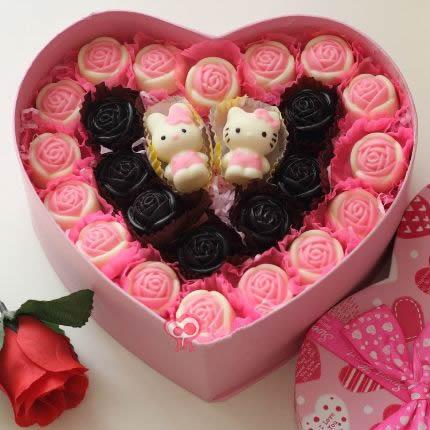 鲜花网站-创意巧克力 真爱