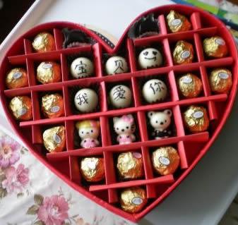 订花-创意巧克力 宝贝我爱你