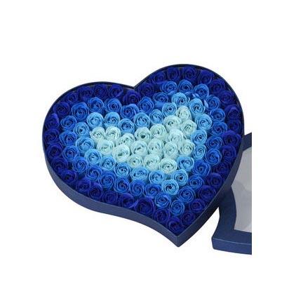 网络订花-肥皂花--渐变蓝