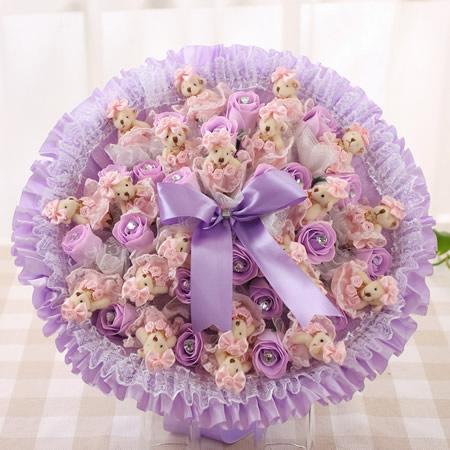 �r花�W站-迷糊小熊-紫色