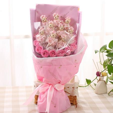 �花-�勖吨�心-粉色