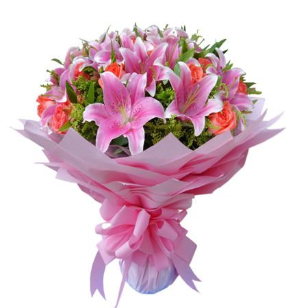 鲜花网-粉色爱情