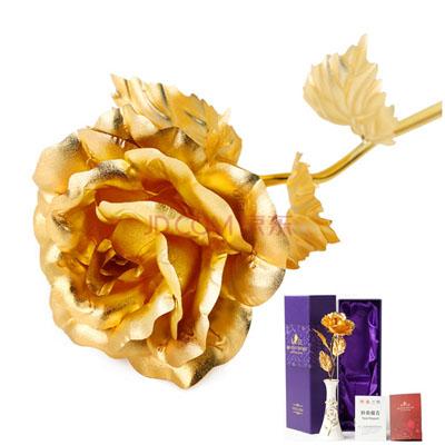 花店-金箔玫瑰陶瓷花瓶