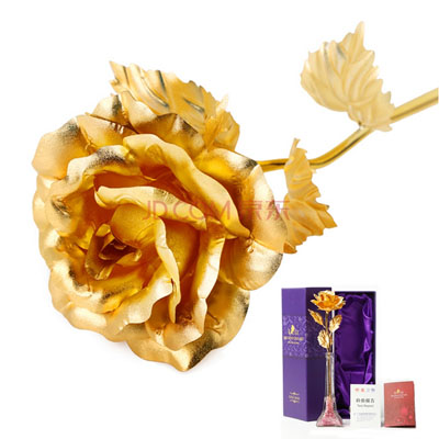 �r花店-金箔玫瑰埃菲��瓶
