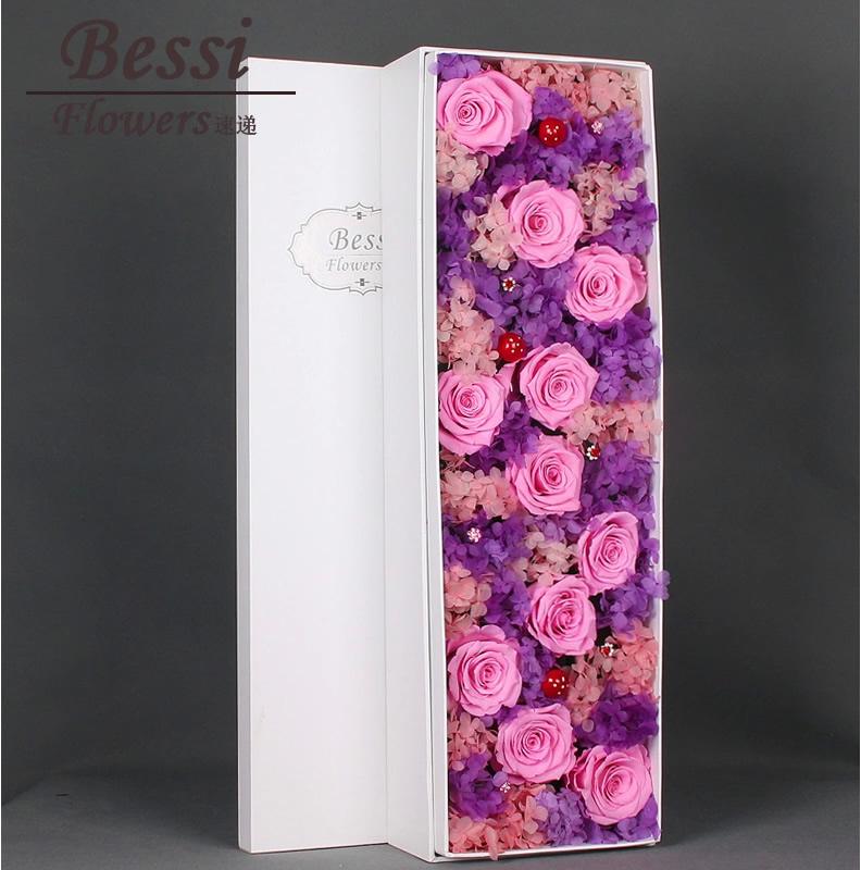 网上鲜花快递-11朵粉玫瑰礼盒