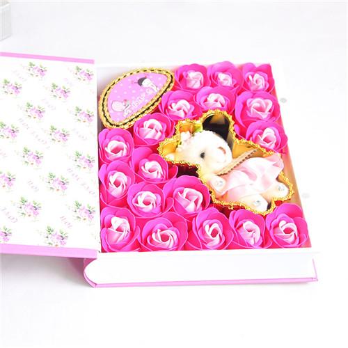 订花-18朵粉色书本教师节快乐