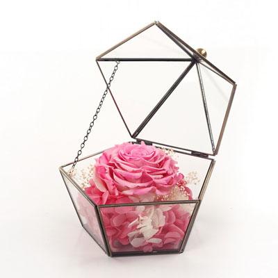 鲜花公司-五星玻璃花房 单朵粉色