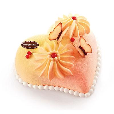 生日�r花蛋糕-哈根�_斯 冰淇淋蛋糕 心花蝶��