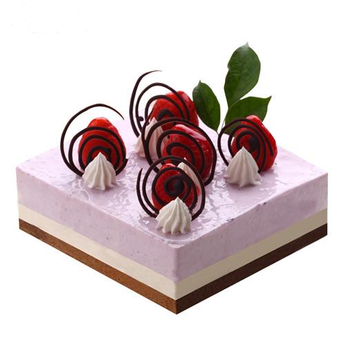生日鲜花蛋糕-梦回午夜
