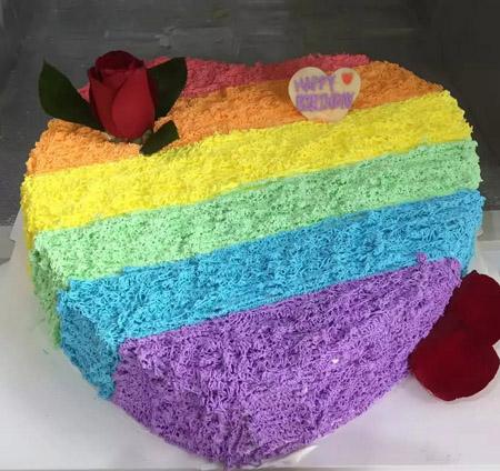 蛋糕订购-七色彩虹