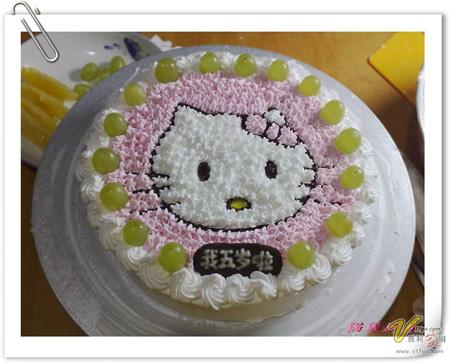 蛋糕鲜花-凯特猫咪