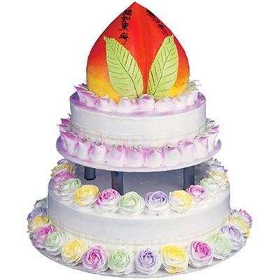 生日鲜花蛋糕-福如东海