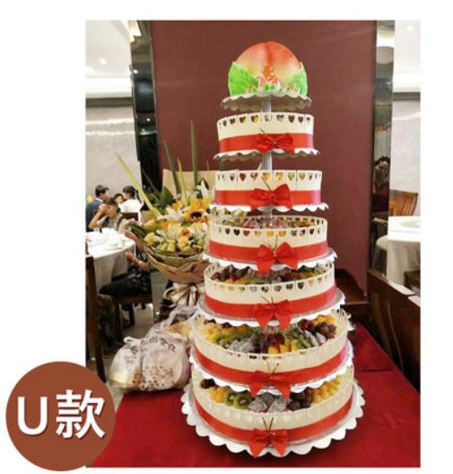 蛋糕鲜花-7层祝寿蛋糕