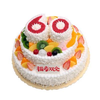 鲜花蛋糕-松柏长青