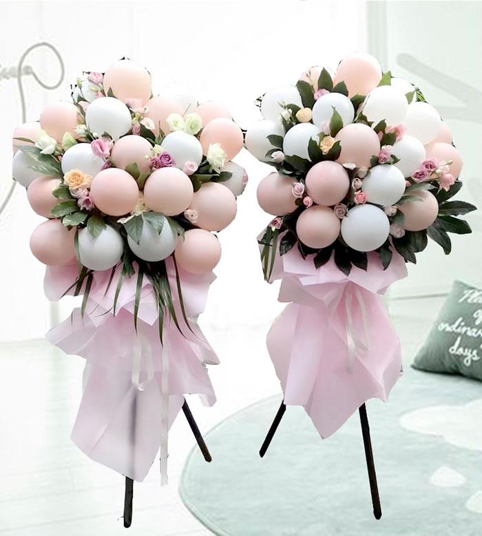 鲜花店-网红气球花篮A款(单个价格)