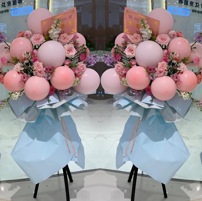 鲜花礼品-网红气球花篮D款(单个价格)