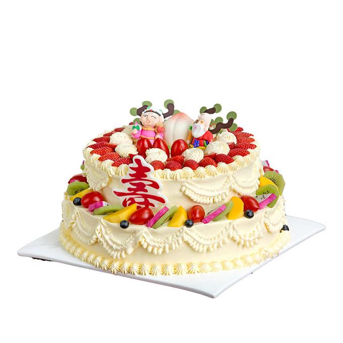 买蛋糕-双星贺寿