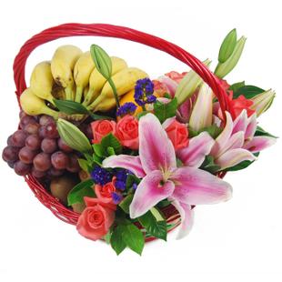 兰之馨水果篮:果篮・问候