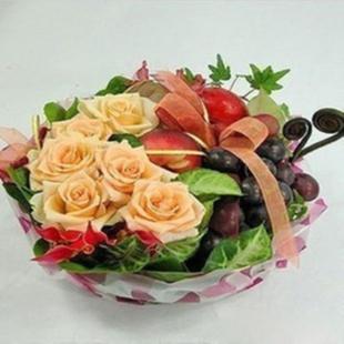 兰之馨水果篮:果篮・花好月圆